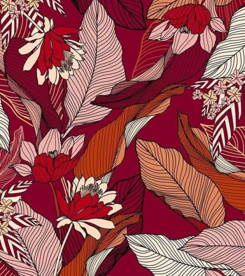Patterns | Warm Tone Leaf Repeat