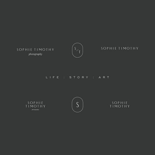 Logo | Sophie Timothy – Wordmark and crest construction