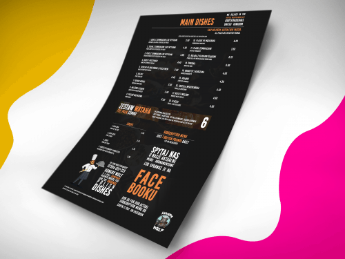 Assets | Hungry Wolf Printables + Free Mockup on Behance