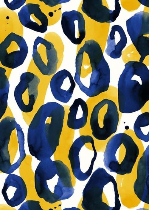 Patterns | pattern by Minakani animalskin watercolor ink circles