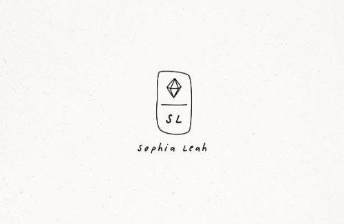 Logo   Sophia Leah – Wordmark and crest by Diamond Gem Premade