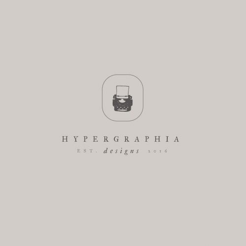 Logo | Hypergraphia – Wordmark and logomark