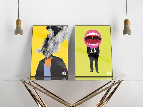 Asset | Modern Double Poster Mockup Vol.3