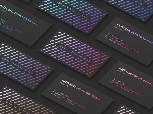 Asset | Modern Customizable Business Card Grid Mockup