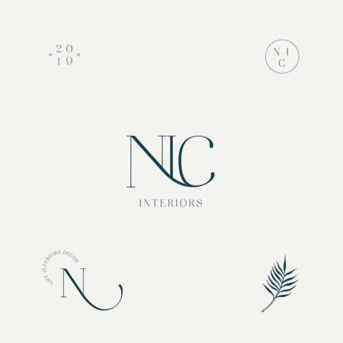 Logo   NIC Interiors – Wordmark and monogram design by elizadesignsthings on instagram elizabarr ...