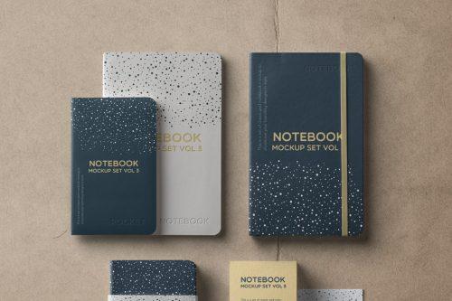 Assets | Psd Notebook Mockup Set Vol 3 | Psd Mock Up Templates