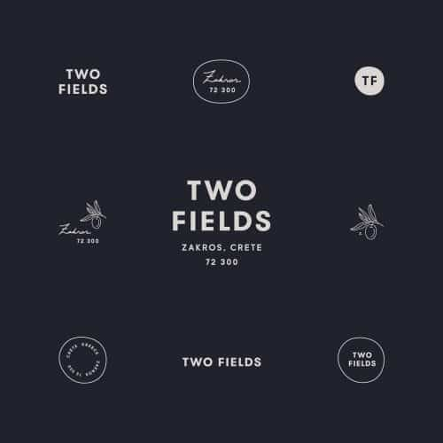 Logo | Two Fields – Wordmark and logo constructions for brothers producing small batch EVO ...