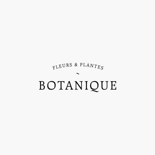 Logo | Botanique – Wordmark – Premade logo design in a minimalist feminine style. Be ...