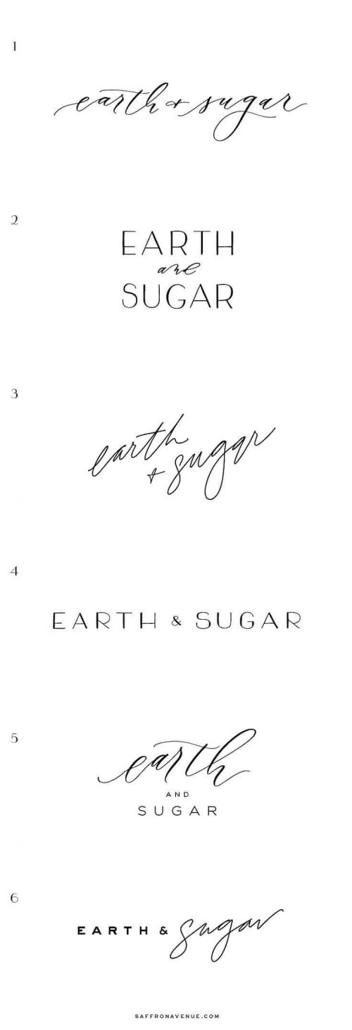 Logo | Earth + Sugar – Wordmark constructions – Modern Brand and Website Design for  ...
