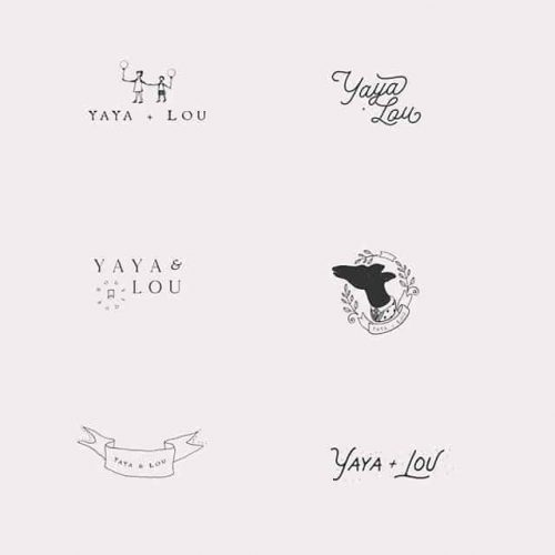 Logo | Rustic and cute little illustrations for alternative logo variations for a sweet and play ...