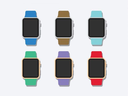 Asset | Flat 2D Apple Watch Mockup