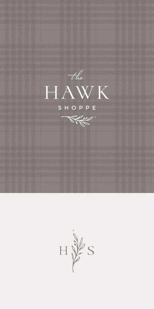 Logo | The Hawk Shoppe – Wordmark and logomark