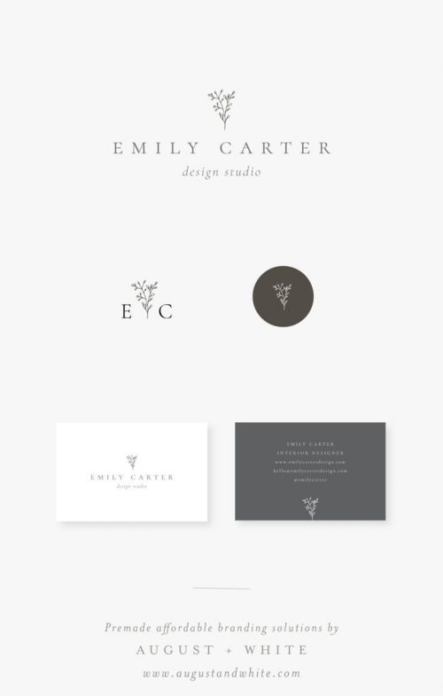 Logo | Sweet floral branding with logo design and stationery using a cute and rustic floral illu ...