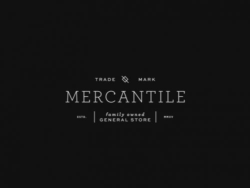 Logo | 100 Mercantile – Wordmark