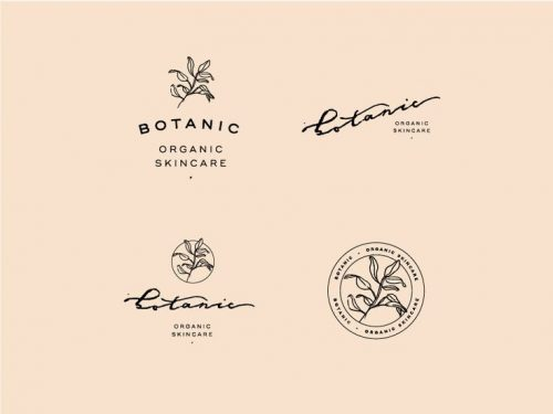 Logo | Botanic Logo – Wordmark and crest by Viola Hill Studio