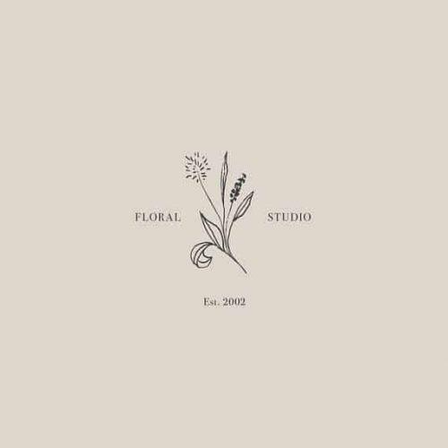 Logo | Floral Studio – Wordmark -Premade Floral Logo Design – Minimalist Modern Stylish