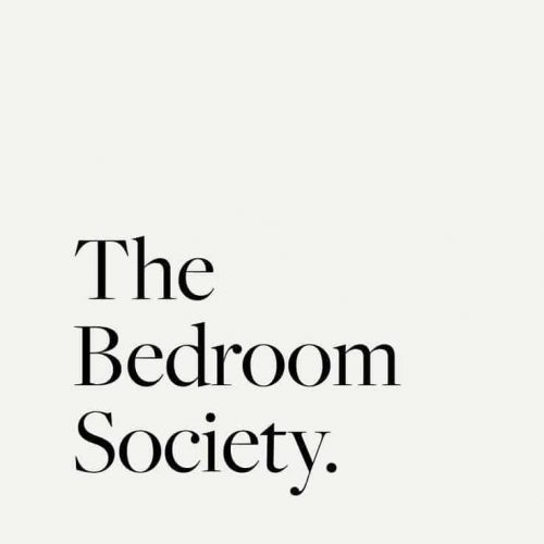 Logo | Clean and elegant type with soft neutrals for luxe French linen company The Bedroom Socie ...