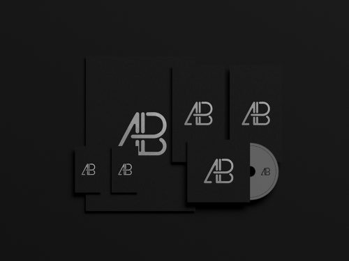Asset | Black Foil Branding Identity Mockup