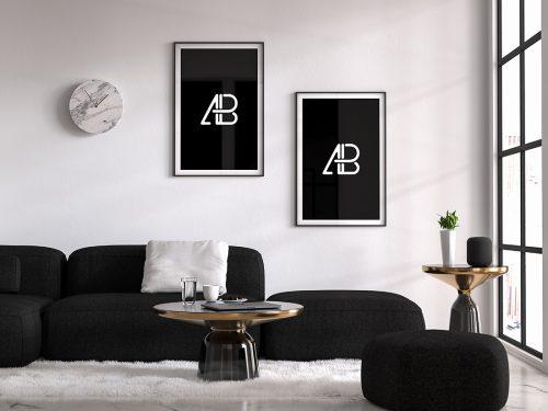 Asset   Modern Double Poster Mockup