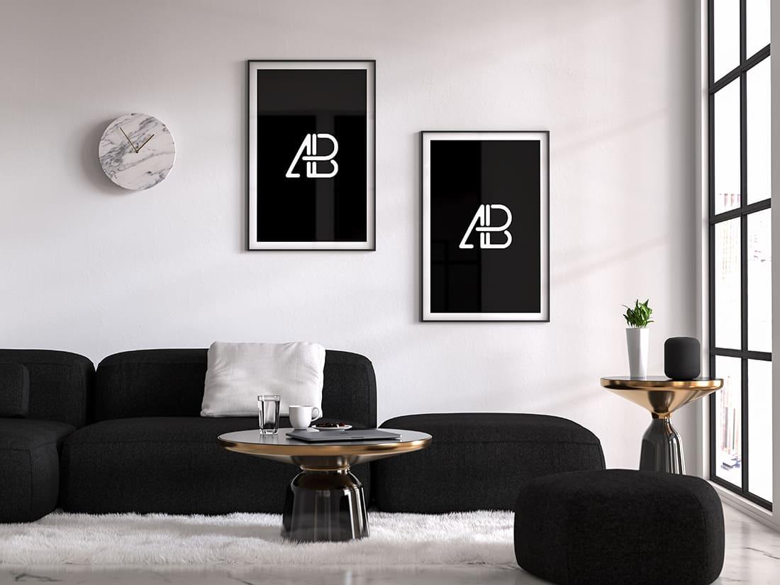 Asset | Modern Double Poster Mockup