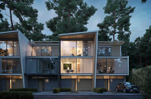 Submarina Studio – Pine and the Tesla – Luxury Architecture Car Photography 001