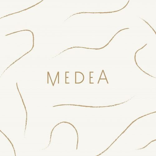 Logo | Medea – Wordmark, A gorgeous simple logo design and abstract line art for an artist ...