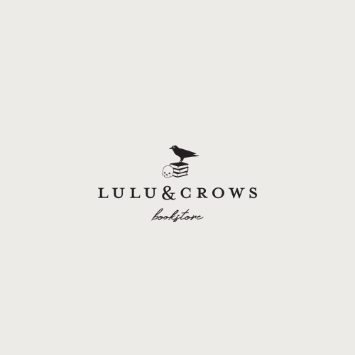 Logo | Lulu & Crows bookstore – Wordmark and logomark. tinaperkodesign bookshop branding