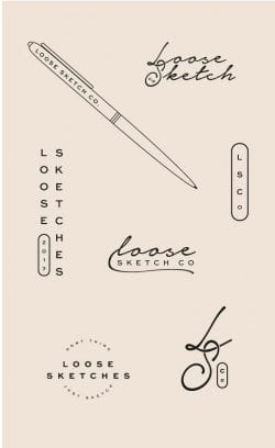 Logo | Loose Sketches – Wordmark and logo constructions