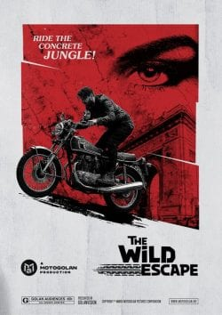 70s style key art graphic poster design for Motogolan – a cafe racer and classic motorcycl ...