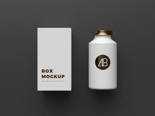 Asset | Copper Foil Bottle Packaging Mockup