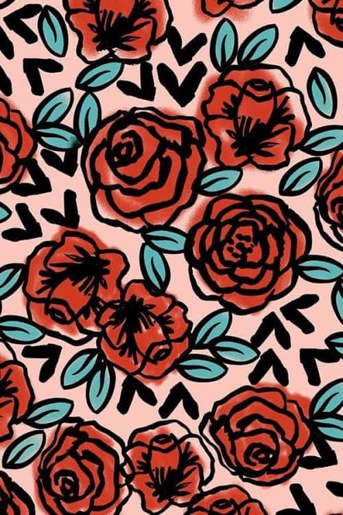 Patterns   Hand Drawn Roses