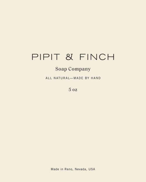Logo | Pipit & Finch Soap Company – Lettering and wordmark by Saturday Studio ( satur ...
