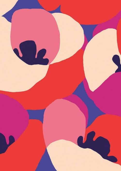 Patterns | Poppies Abstract Floral Pattern