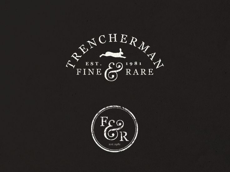 Logo | Trencherman Fine & Rare – Wordmark – retro inspired logo design and bran ...
