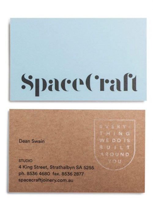 Space Craft Business Card Design