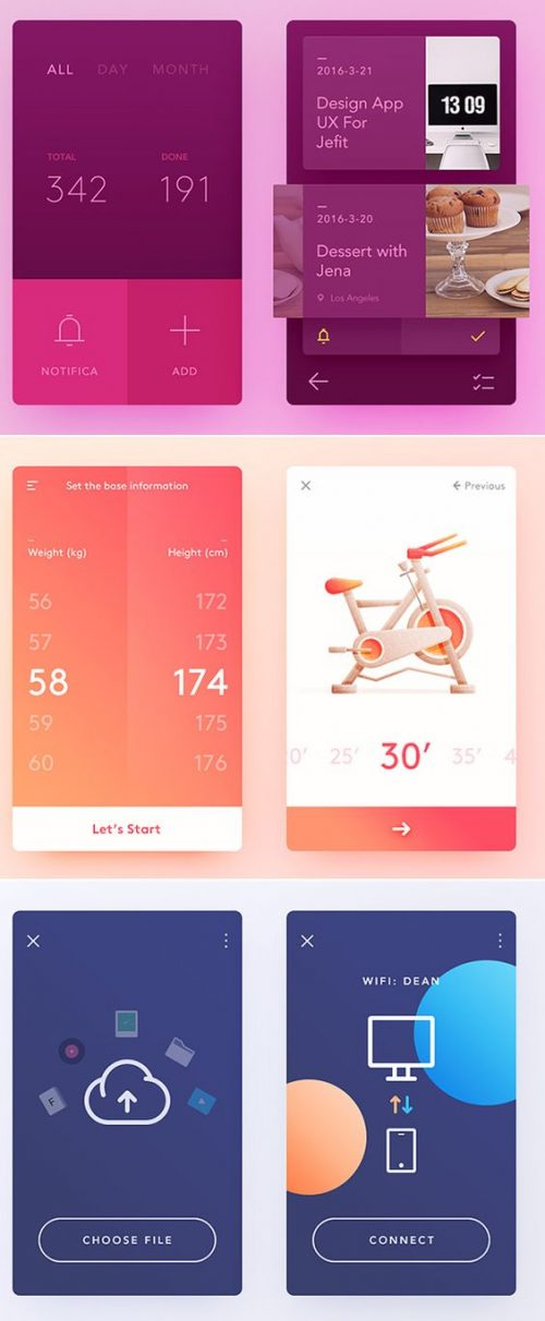 Simple App Design | Gradient User Interface