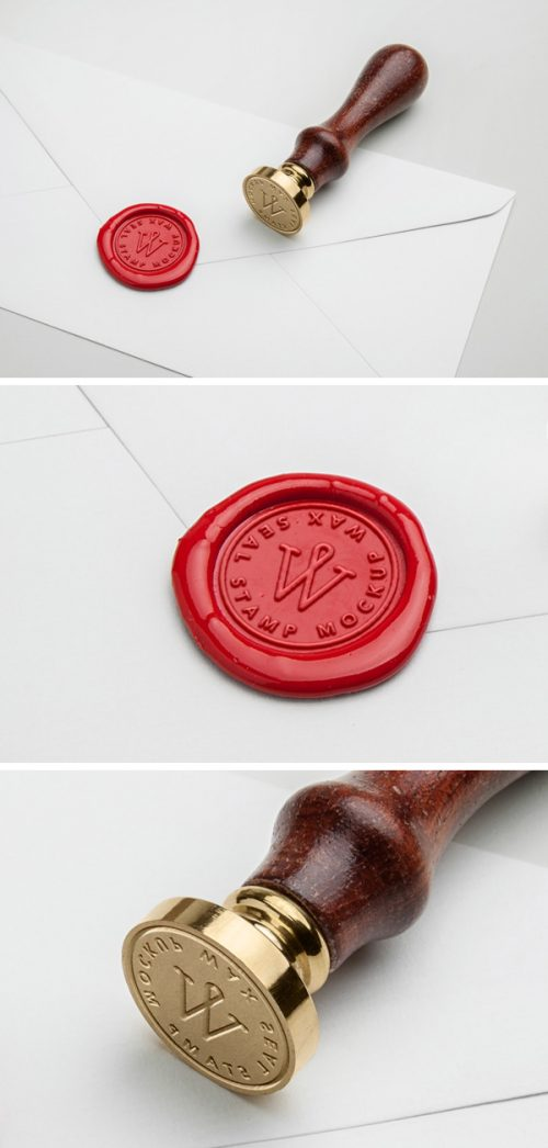 Asset | Wax Seal Stamp PSD MockUp