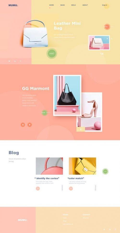 Mumu Website Landing Page Design by Yuan Tu