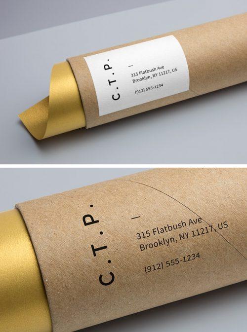 Asset | Cardboard Tube Packaging MockUp