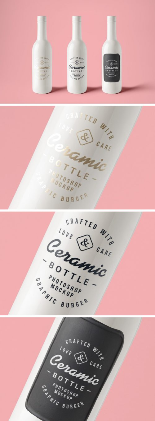 Asset | Ceramic Bottles PSD MockUp