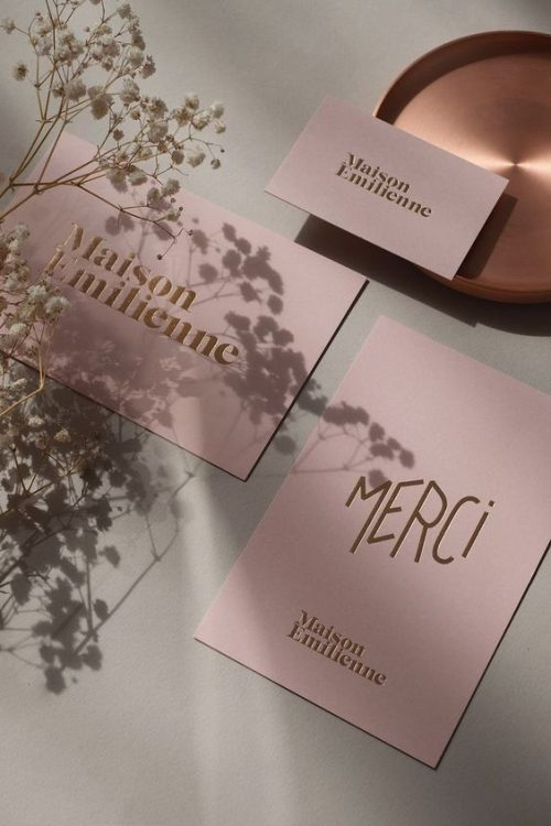 Maison Emilienne brand identity by Alexia Roux #InspoFinds