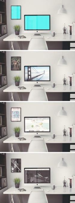 Asset | iMac Retina 5k Office MockUp