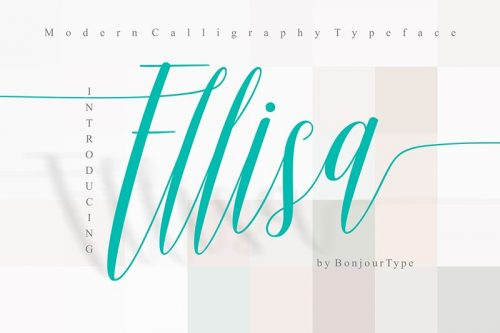 Asset | Ellisa Font Typeface