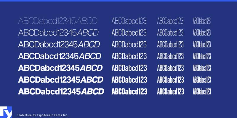 Asset   Coolvetica Font   A Helvetica Typeface Alternative