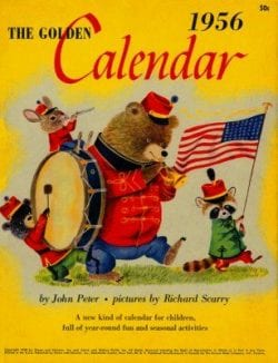 Vintage 1956 The Golden Calendar | Richard Scarry
