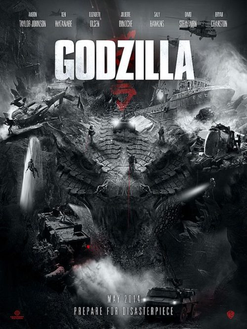 Disasterpiece | Godzilla Movie Poster by Ludovic Cordelières