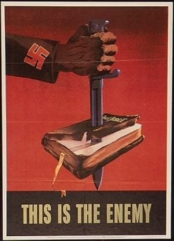 Nazy Germany This is the Enemy Propaganda Poster