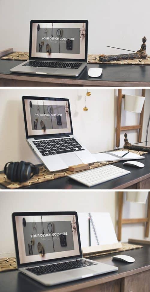 Asset | 3 Elegant Macbook Pro MockUps