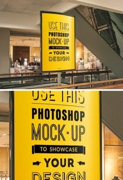 Asset   Indoor Advertising Poster MockUp