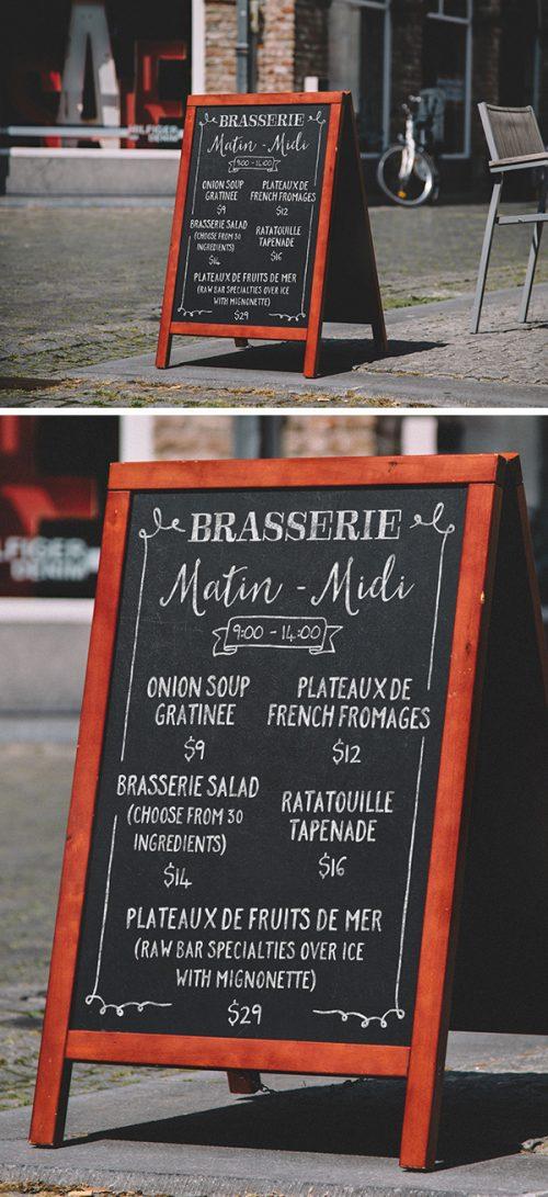Asset | A-Frame Chalkboard Menu MockUp